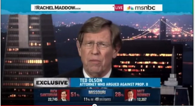 video of Attorney Ted Olson on Rachel Maddow