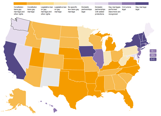 "Interactive Map Shows the ""Crazy Patchwork"" of Marriage Rights ..."
