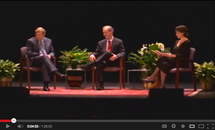 video of Constitutionally Speaking: Ted Olson and David Boies