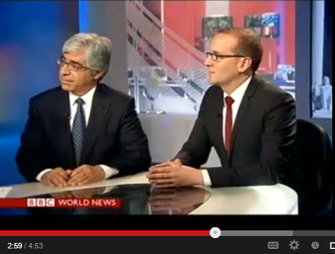 video of Ted Boutrous and Chad Griffin on BBC World News