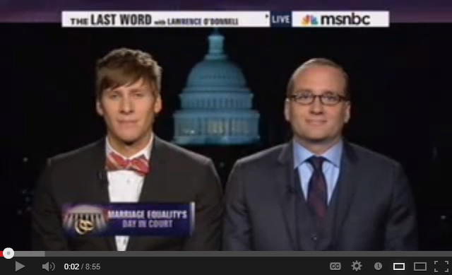 video of Dustin Lance Black and Chad Griffin on the Last Word