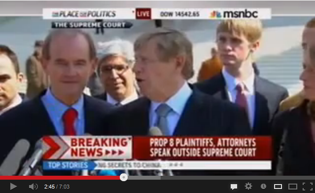 video of Prop. 8 Attorneys and Plaintiffs Discuss Marriage Equality at the Supreme Court