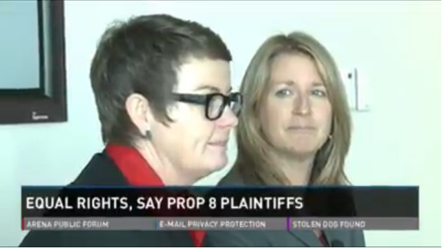 video of Plaintiffs Kris Perry and Sandy Steir talk with local ABC news about Proposition 8