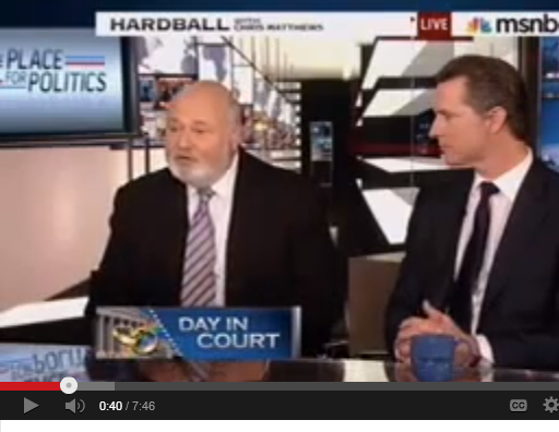 video of Rob Reiner on Hardball