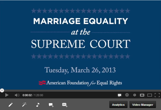 video of Audio: Marriage Equality at the Supreme Court