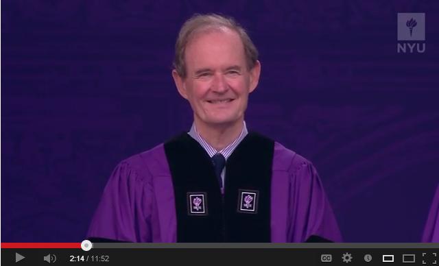 video of NYU's 2013 Commencement Keynote Speaker David Boies
