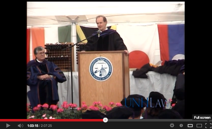 video of David Boies Addresses the University of New Hampshire School of Law