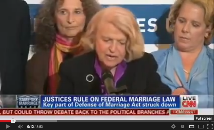 video of CNN: Edie Windsor's remarks on DOMA