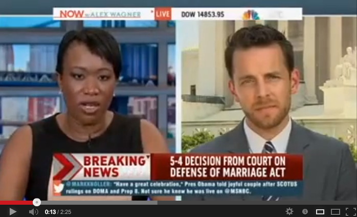 video of MSNBC: AFER Executive Director Adam Umhoefer on Prop 8