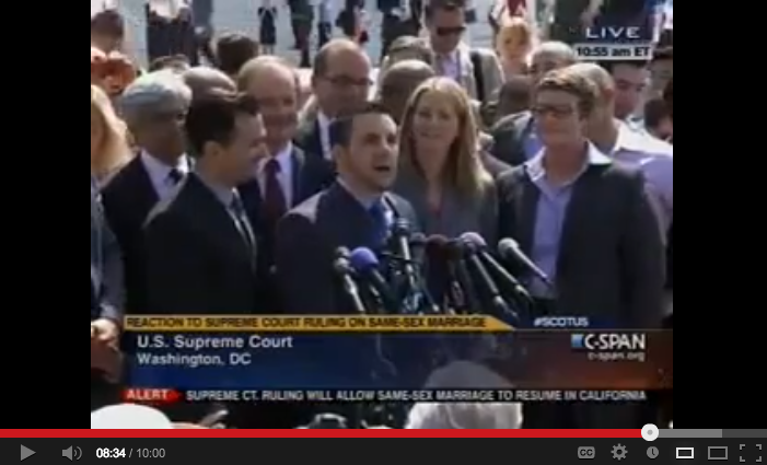 video of AFER Press Conference: Marriage Equality Returns to CA