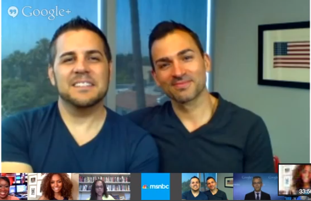 video of MSNBC Hangout: Plaintiffs Jeff & Paul Talk Prop 8