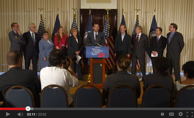 video of AFER's Virginia Press Conference: Bostic v. Rainey