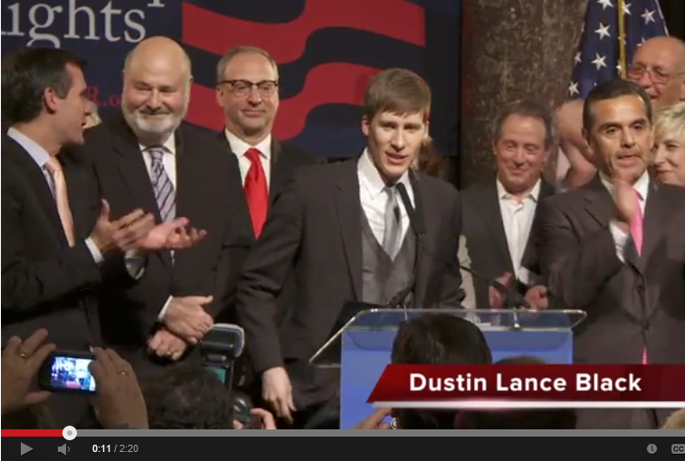 video of Dustin Lance Black and Rob Reiner at Ninth Circuit Prop. 8 Victory